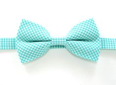 Mint gingham bow tie,Green bow tie,Easter bow tie,Wedding bow tie,Party bow tie for Men,Toddlers ,Boys,Baby