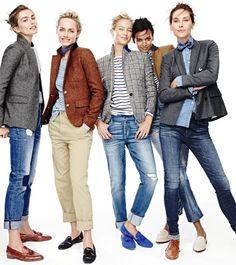 Blazer, Jeans, Flats … J.Crew immer Blazers, Jeans, Flats … J.Crew always … Blazer Jeans, Tweed Blazer, Tomboy Fashion, Work Fashion, Fashion Outfits, Work Casual, Casual Chic, Casual Fridays, Tomboy Chic