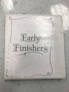Clarketastic Art: Early Finishers