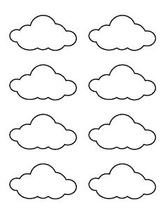 Use the printable outline for crafts, creating stencils, sc Small cloud pattern. Use the printable outline for crafts, creating stencils, sc… Felt Crafts, Diy And Crafts, Crafts For Kids, Paper Crafts, Templates Printable Free, Free Printables, Decoration Creche, Cloud Decoration, Cloud Template