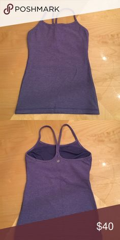 lululemon size 4 power y tank brushed This power y is like new. It is a rare tank that has been brushed to be better suitable for colder weather. It will feel warm and cozy. lululemon athletica Tops Tank Tops