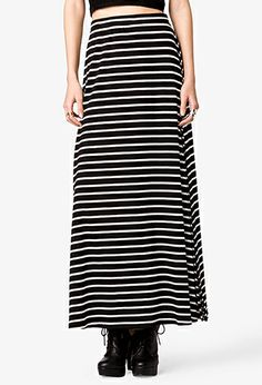 e6f744bf50ee BCBGMAXAZRIA Black and White Striped Knit Karolin Maxi Skirt - Lyst ...