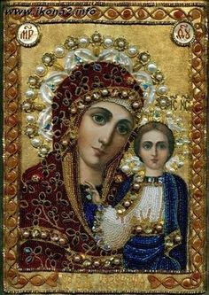 Jeweled Russian Icon