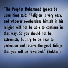 Hadith on Islam and its ease