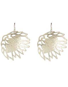 Janine Binneman Jewellery Design Protea Earrings Sterling Silver
