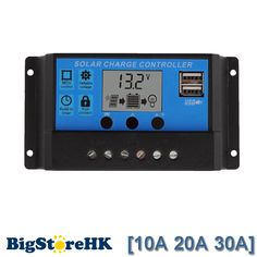 30A/20A/10A 12V 24V Auto work PWM Solar Charge Controller with LCD Dual USB 5V Output Solar Cell Panel Charger Regulator PV Home