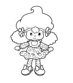 boneca moranguinha colorir