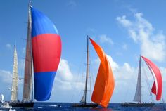 Most yachts had great Spinnakers. The 2012 Bucket in St. Barth's.