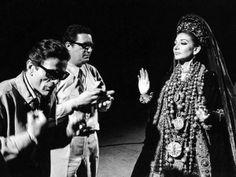 Maria Callas, Pier Paolo Pasolini : tournage de Médée. Photo de Tazio Secchiaroli