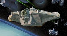 """""""The Ghost"""" was a modified VCX-100 light freighter originally made by the Corellian Engineering Corporation. Appears in Disney XD's """"Star Wars Rebels."""""""