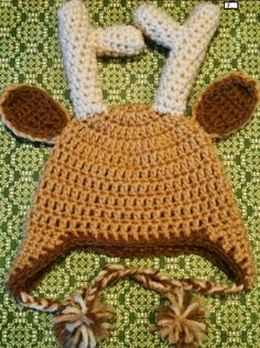 Deer Baby Hat by CharleeAnn