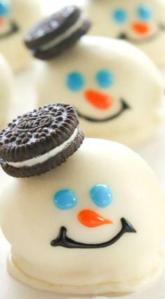 Melting Snowman Oreo Balls [ Vacupack.com ] #holiday #quality #fresh