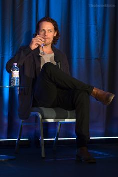 """"""" It was quite instantaneous"""" : Photo Sam Heughan at the Highlander Starfury…"""
