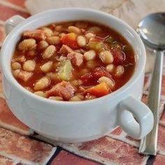 Instant Pot® Double Bean and Ham Soup