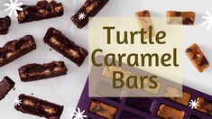 You want to start with the Turtle Caramels the day before. It helps you speed up prep time when you make this and the Chocolate Fudge Sa. Caramel Bars, Caramels, Vegetarian Paleo, Chocolate Fudge, Turtle, Lunch Box, Amazing, Desserts, Food