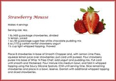 Strawberry Mousse made using Tupperware and stored in Tupperware Strawberry Mousse, Strawberry Recipes, Fruit Recipes, Tupperware Organizing, Tupperware Recipes, Chef Recipes, Cooker Recipes, Amish Recipes, Sugar Free White Chocolate