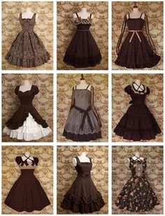 Dress inspirations for Hanifa Pretty Outfits, Pretty Dresses, Beautiful Dresses, Cool Outfits, Kawaii Fashion, Lolita Fashion, Cute Fashion, Vintage Dresses, Vintage Outfits