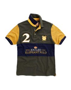 Joules Elephant Polo Shirt Green £49.95