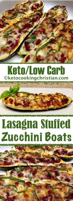 Lasagna Stuffed Zucchini Boats - Keto and Low Carb - Düşük karbonhidrat yemekleri - Las recetas más prácticas y fáciles Keto Diet List, Starting Keto Diet, Diet Food List, Low Carb Recipes, Diet Recipes, Healthy Recipes, Low Carb Lasagna, Zucchini Lasagna, Pancake
