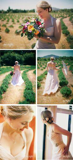 wedding dress, organic bouquet, plant bouquet
