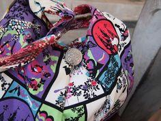 Fabric tote purse