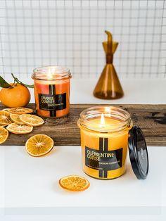 Bougie parfumée pot de confiture 50h clémentine Corse - Bougies la Française
