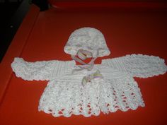 Old School - bonnet and sweater.  I love making this stuff