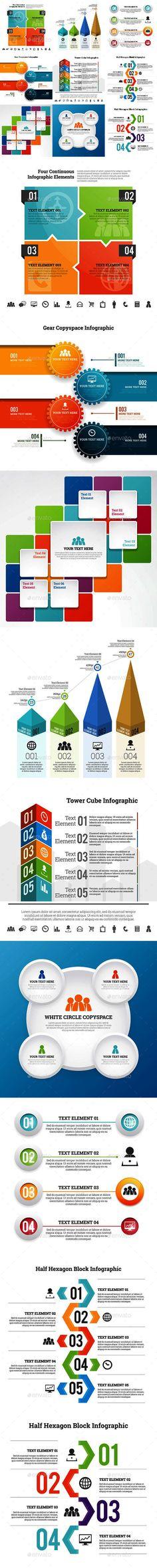 Infographic Set Templates #design Download: http://graphicriver.net/item/infographic-set-9/12999509?ref=ksioks