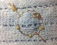 Celtic Heart Brass Bun Holder Hair Sticks by nicholasandfelice