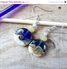ON SALE Lampwork Earrings Handmade Glass Earrings by CandanImrak