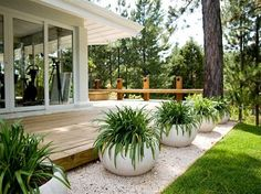 Do you have an outdoor garden? Let's choose a different and the best outdoor garden for your home ! Front Yard Landscaping, Backyard Patio, Succulent Landscaping, Mulch Landscaping, Patio Planters, Outdoor Plants, Outdoor Gardens, Design Jardin, Landscape Design