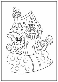 christmas winter holiday gingerbread house coloring - House Coloring Pages Toddlers