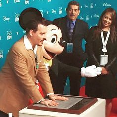 His handprints have been laid, making Johnny Depp an official #Disney Legend! #D23EXPO