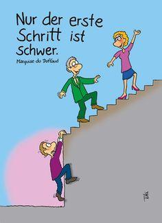 Der erste Schritt zur Selbstmotivation - Only the first step is difficult...