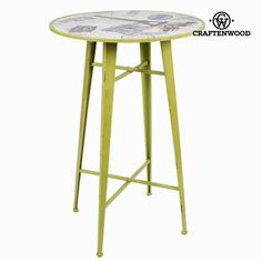 Paris green metal table by Craftenwood