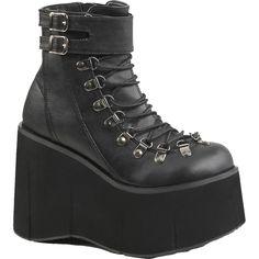 2128e2f18666b8 Inked Boutique - Women s Demonia KERA-21 Platform Ankle Boot Black Goth  Punk - Find