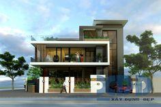 Thiết kế biệt thự hiện đại ven sông quận 7 TP HCM