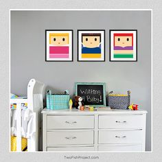 Cute Disney princess posters. Ariel, Snow White and Aurora. Check out the etsy shop for more simple, modern disney princesses. twofishproject.etsy.com