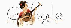 María Severa Onofriana homenajeada por Google en el 196 aniversario de su nacimiento. Doodleando, Los Logos de Google