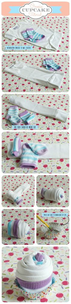 Onsie Cupcake Tutorial                                                                                                                                                                                 More