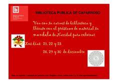 Cartel actividad de Navidad  Biblioteca Pública de Caparroso