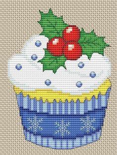 "Photo from album ""Мои схемы"" on Yandex. Cross Stitch Christmas Cards, Xmas Cross Stitch, Cross Stitch Kitchen, Christmas Cross, Cross Stitching, Cross Stitch Embroidery, Cupcake Cross Stitch, Cross Stitch Fruit, Cross Stitch Animals"