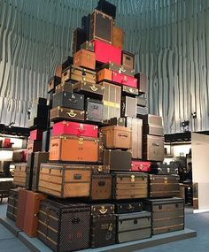 "LOUIS VUITTON, Paris, France, ""The bags and trunks that are part of the history of the brand"", photo by YouV, pinned by Ton van der Veer"