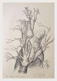 """symbiose"", original steindruck ( lithografie ), 2004"