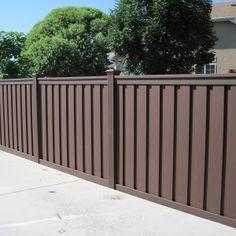 Trex Wood Alternative Fence - Woodland Brown