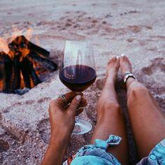 Wine + Bonfire + Beach = Perfect! Photo by @wine.gini  #RODwine #rodwineco #winemood