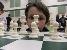 This boy looks a little like my son Andrew, although he did not compete in this particular tournament. There's something really, really cute about Kindergarteners playing chess.