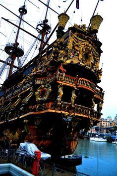 Galeón pirata de Roman Polański en Génova