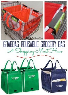 Grabbag Grab Bag Reusable Grocery Bag, shopping must haves, best bag ever for shopping