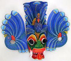 Wall mask Maura raksha of natural paint Sri Lankan by ICMCM
